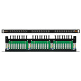 NMC-RP24UD2-HU-BK Nikomax Патч-панель неэкранированная, кат.5e, 24 порта, 19, 0,5U