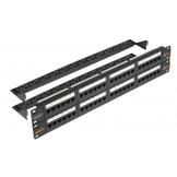 NMC-RP48UD2-2U-BK Nikomax Патч-панель неэкранированная, кат.5e, 48 портов, 19, 2U
