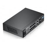 ES3500-8PD Zyxel 8-портовый управляемый коммутатор L2+ Fast Ethernet с 2 портами Gigabit Ethernet совмещенными с SFP-слотами