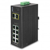 IGS-10020MT Planet Промышленный 8-портовый 10/100/1000T + 2 100/1000X SFP управляемый коммутатор (-40~75 градусов C)