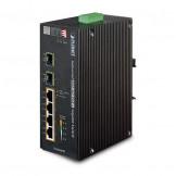 IGS-624HPT Planet Промышленный 4-портовый10/100/1000T 802.3at PoE+ w/ 2-Port 100/1000X SFP коммутатор