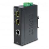 IGT-1205AT Planet Промышленный гигабитный SFP медиаконвертер 10/100/1000T в 2 100/1000X