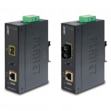 IGTP-80xT Series Planet Промышленный PoE медиаконвертер 1000Base-SX / LX to 10/100/1000Base-T 802.3at